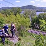 Z místa, kde dříve stával sloup elektrického vedení, je skvělý výhled na Dunaj
